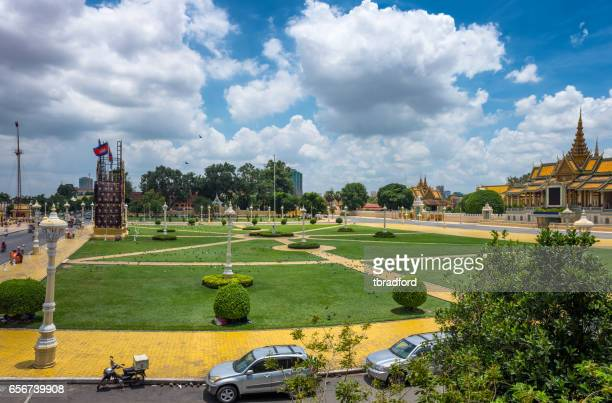 Royal Palace Park In Phnom Penh, Cambodia
