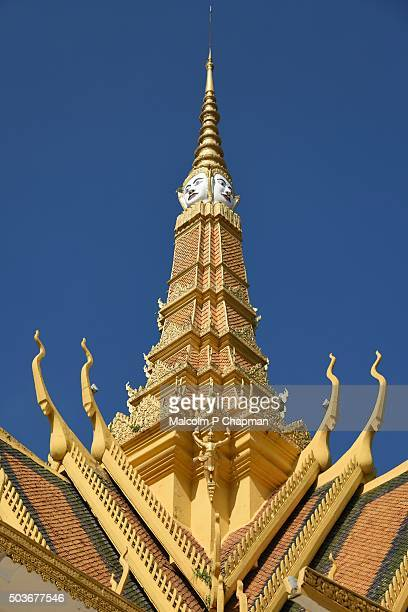 "royal palace phnom penh, throne hall, cambodia - cambodia ""malcolm p chapman"" or ""malcolm chapman"" stock pictures, royalty-free photos & images"