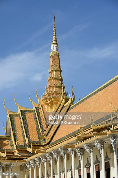 """royal palace phnom penh, throne hall, cambodia - cambodia """"malcolm p chapman"""" or """"malcolm chapman"""" stock pictures, royalty-free photos & images"""