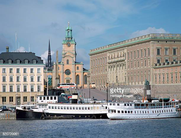 Royal Palace, Stockholm, Sweden. The official residence of the Swedish monarch, Stockholm Palace was built in Baroque style between 1697 and 1760....