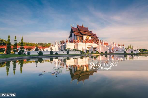 royal park rajapruek, chiang mai, thailand. - theravada stock pictures, royalty-free photos & images