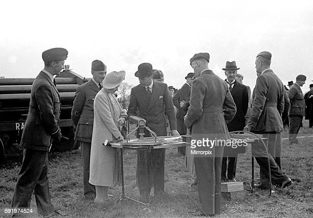 Royal Party at Hook. Balloon Barrage with the King and Queen and Prime Minister Neville Chamberlain in attendance. April 1939. 1st april 1939