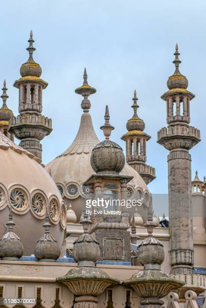 royal pavilion domes & minarets in brighton - brighton england stock pictures, royalty-free photos & images