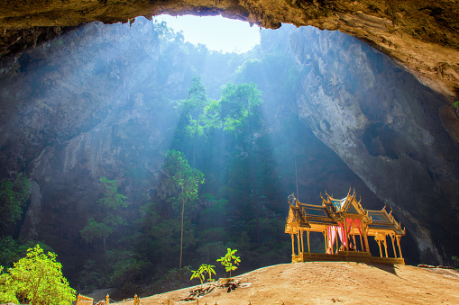 Royal pavilion in the Phraya Nakhon Cave. - gettyimageskorea