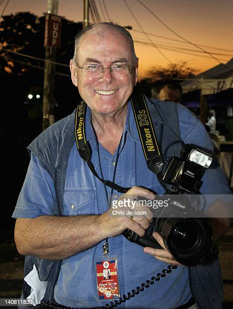 Royal Photographer Arthur Edwards attends a Jubilee Block Party on March 2, 2012 in Belmopan, Belize. The Prince is visiting Belize as part of a...