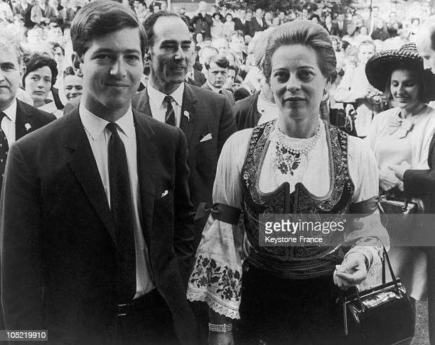 Royal Prince Alexander Of Yugoslavia Aged 23 Accompanied By His Uncle Prince Tomislav Of Yugoslavia And His Aunt Princess Margaret Of Bade At The...