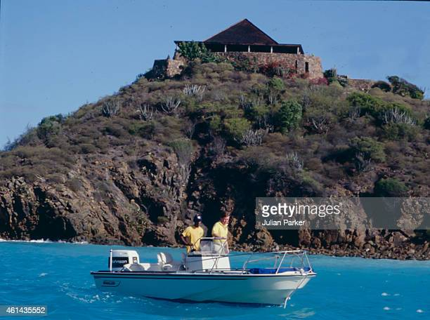 Royal Protection Officer Ken Wharfe during Diana Princess of Wales holiday on Necker Island with with Prince Harry and Prince William on January 9...