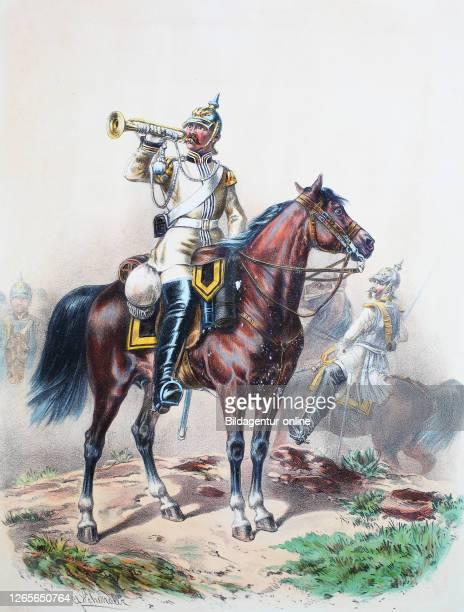 Royal Prussian Army Guards Corps Preußens Heer preussische Garde Leib Kürassier Regiment Schlesisches No1 Trompeter Offizier Digital improved...