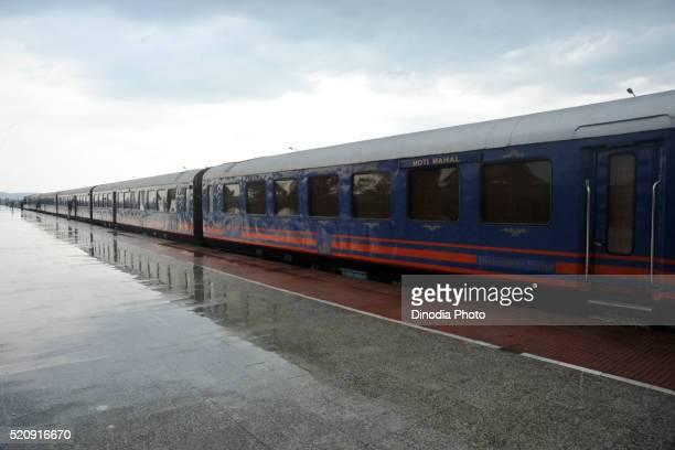 Royal Rajasthan on Wheels train, Madhya Pradesh, Khajuraho, India, Asia