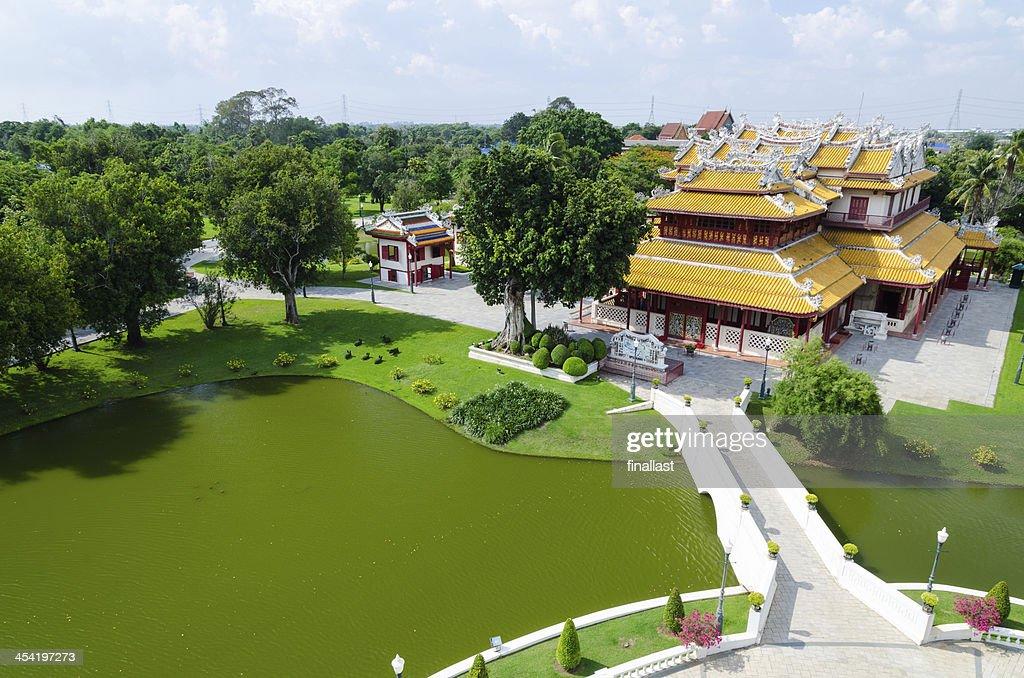 Royal residência em Bang Pa-no palácio, Tailândia : Foto de stock