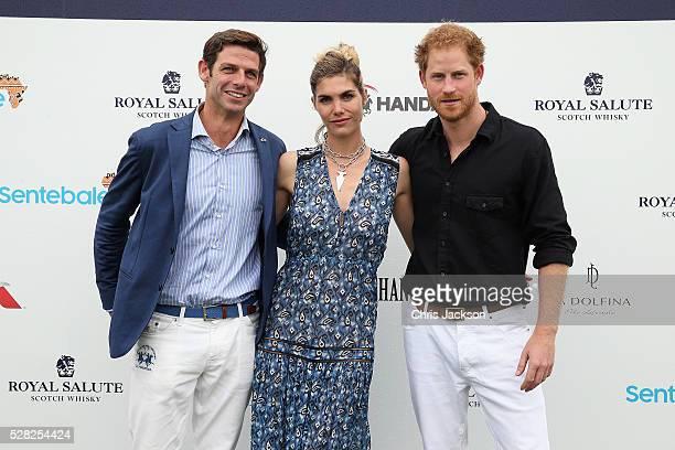 Royal Salute World Polo Ambassador Malcolm Borwick Delfina Blaquier and Prince Harry attend the Sentebale Royal Salute Polo Cup in Palm Beach at...