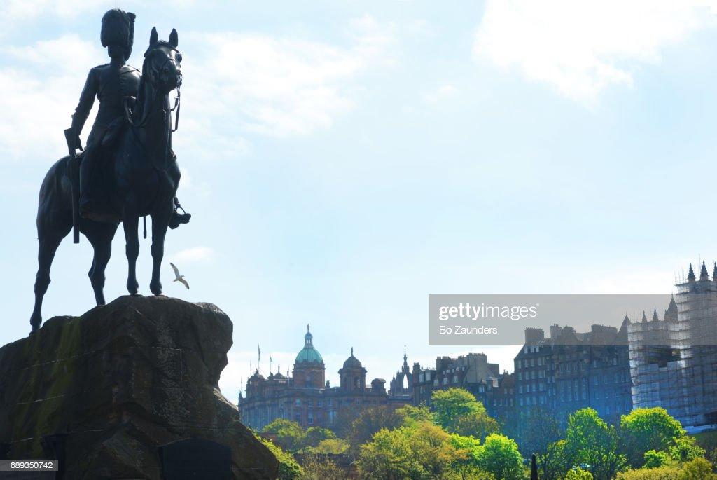 Royal Scots Greys statue : Stock Photo