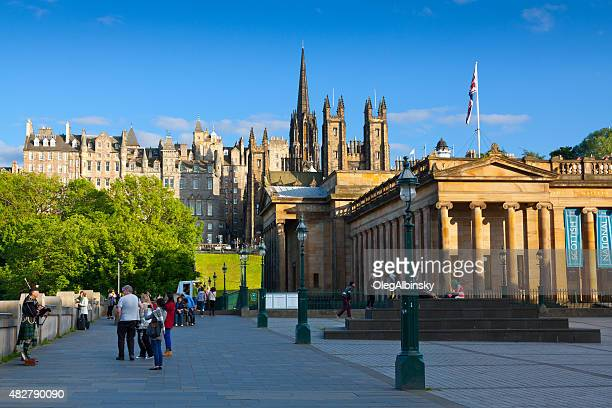 royal scottish academy,  edinburgh, scotland, united kingdom. - new town edinburgh stock photos and pictures