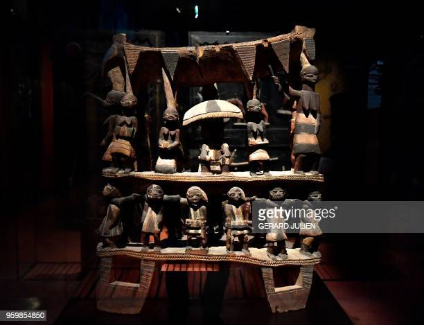 Royal Seat of the Kingdom of Dahomey from the early 19th century is pictured on June 18 2018 at the Quai Branly MuseumJacques Chirac in Paris Benin...