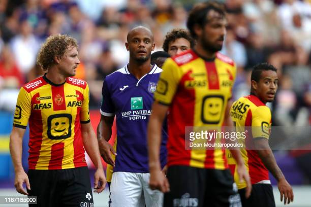 Royal Sporting Club Anderlecht Head Coach / Player Manager, Vincent Kompany in action during the Jupiler Pro League match between RSCA or Royal...