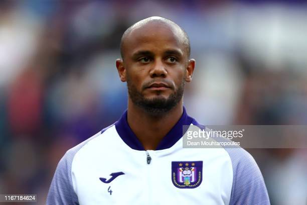 Royal Sporting Club Anderlecht Head Coach / Player Manager, Vincent Kompany gets ready top compete prior to the Jupiler Pro League match between RSCA...
