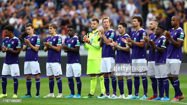 Royal Sporting Club Anderlecht Head Coach / Player Manager Vincent Kompany leads his team in one minute applause prior to the Jupiler Pro League...