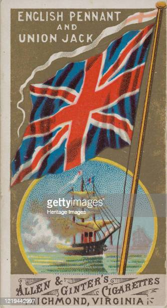 Royal Standard, Great Britain, from Flags of All Nations, Series 1 for Allen & Ginter Cigarettes Brands, 1887. Artist Allen & Ginter.