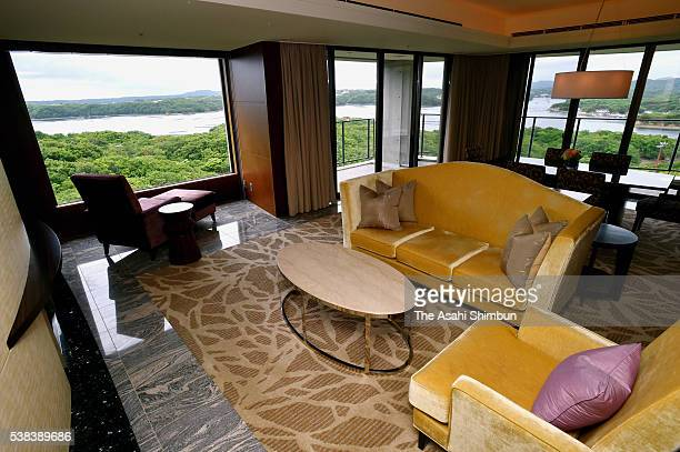 Royal Suite where French President Francois Hollande stayed is seen during the press preview on June 5 2016 in Shima Mie Japan A presidential...
