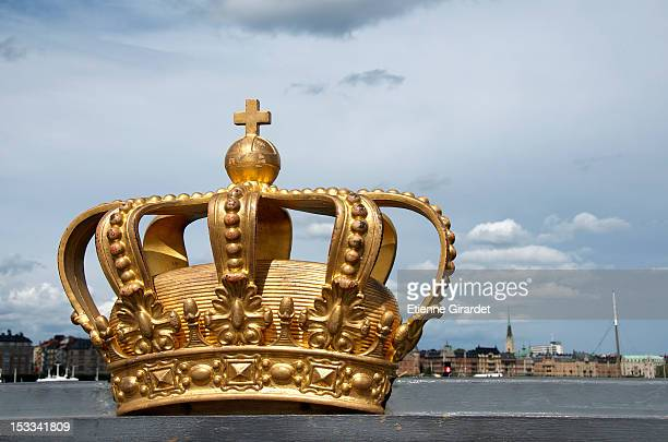Royal Swedish crown on Skeppsholmen Bridge