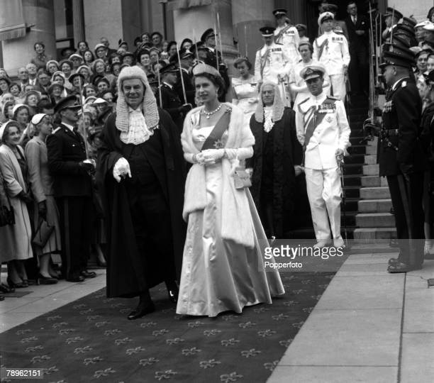 Royal Tour of Australia Queen Elizabeth II and the Duke of Edinburgh are pictured leaving Parliament House Adelaide after the State Opening of the...