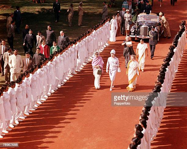 1961 Royal Tour to India Queen Elizabeth II is pictured visiting Lady Irwin Girls College in Delhi