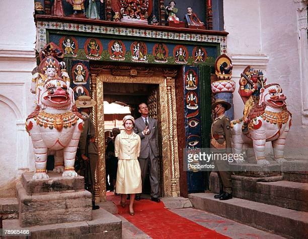 1961 Royal Tour to Nepal Queen Elizabeth II and Prince Philip the Duke of Edinburgh are pictured in Katmandu