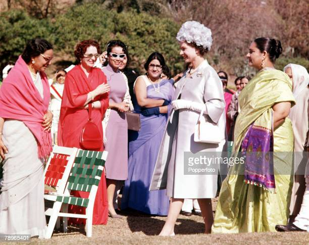 1961 Royal Tour to Pakistan Queen Elizabeth II is pictured meeting people in Lahore