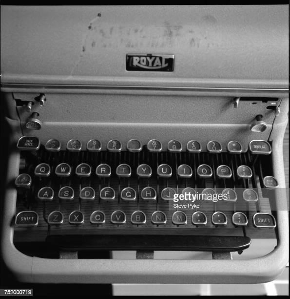 A Royal typewriter belonging to American Pulitzer Prizewinning poet John Ashbery 2005