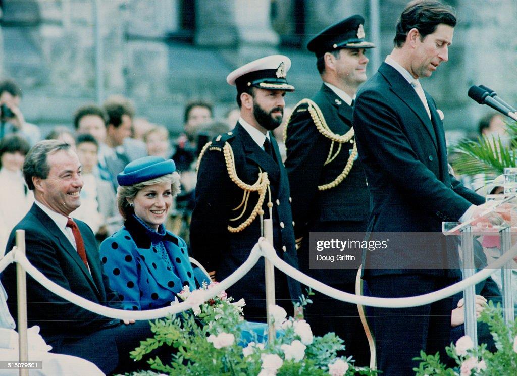 Royal Visits - Prince Charles and Princess Diana (Canada 1986) British Columbia... : News Photo