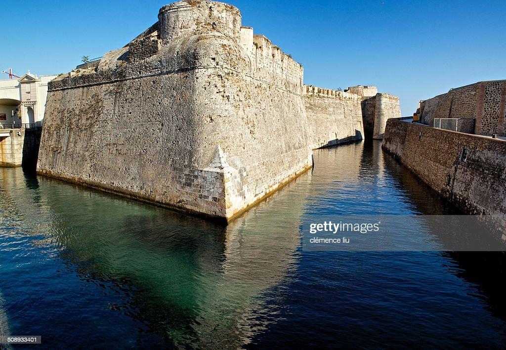 Royal walls of Ceuta : Stock Photo