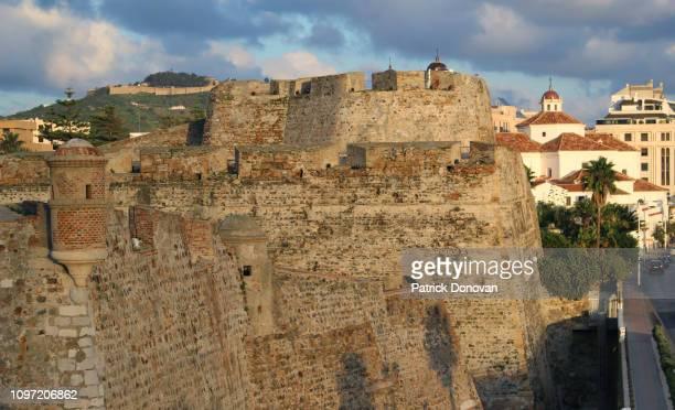 royal walls of ceuta, spain - ceuta fotografías e imágenes de stock