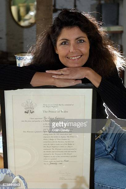Royal Warranted china repairer Amanda Chalmers at her studio on the Highgrove Estate 28th January 2002