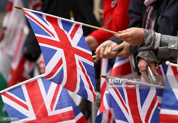 royal wedding 2011 in london, england - union jack stock photos and pictures