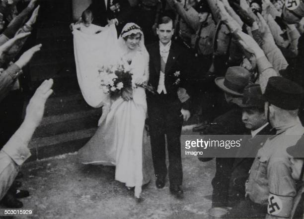 Royal Wedding between Prince William of Hesse and Marianne Princess of Prussia in Tabarz in Thuringia 31 January 1933 Photograph