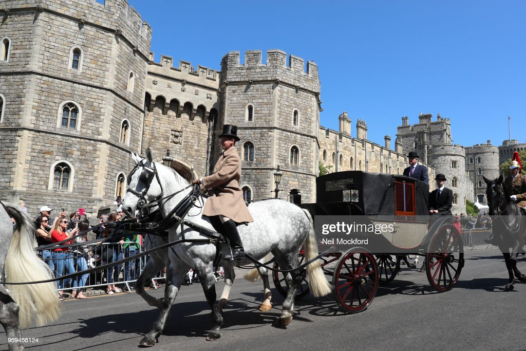 Royal wedding carriage procession rehearsal in Windsor on May 17, 2018 in Windsor, England.