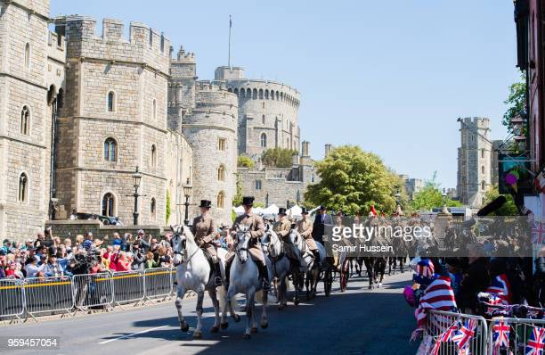 Royal wedding carriage procession rehearsal takes place on May 17 2018 in Windsor England Preparations continue in the town for the wedding between...