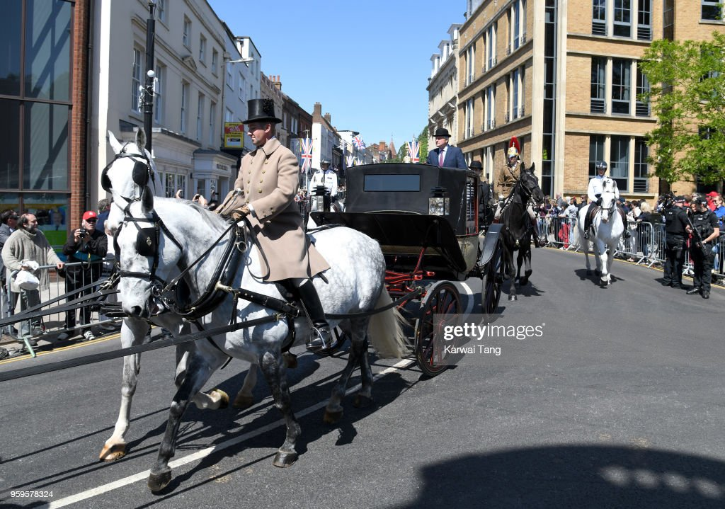 A Royal Wedding carriage procession rehearsal takes place on May 17, 2018 in Windsor, England. Preparations continue in the town for the wedding between Prince Harry and Ms. Meghan Markle on May 19, 2018, when tens of thousands of well wishers will descend on the town just west of London to celebrate the couple's big day.