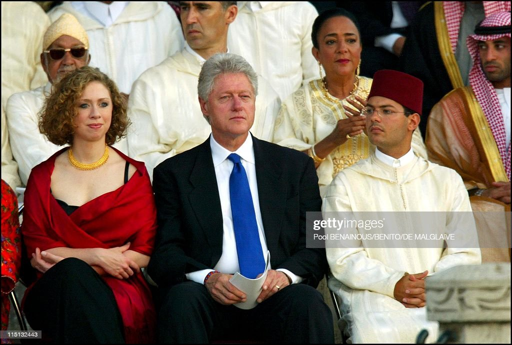 Royal Wedding Of King Mohammed Vi With Lalla Salma In Rabat, Morocco On July 12, 2002. : News Photo