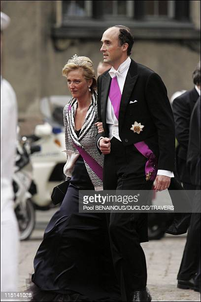 Royal wedding of Prince Frederik and Mary Donaldson arrivals at the cathedral in Copenhagen Denmark on May 14 2004 Royal wedding of Prince Frederik...