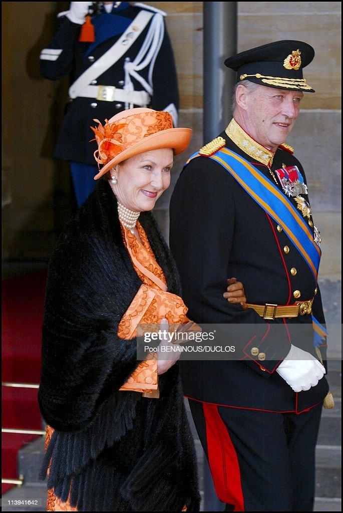 Royal Wedding of the Prince Willem-Alexander with Maxima Zorreguieta In Amsterdam, Netherlands On February 02, 2002- : Nachrichtenfoto