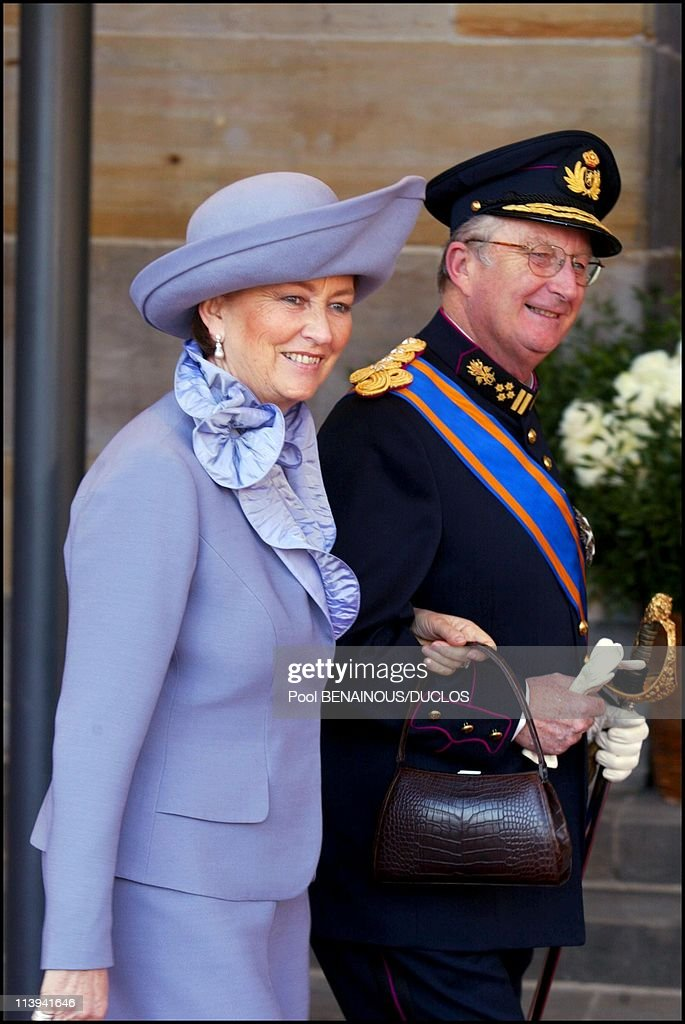 Royal Wedding of the Prince Willem-Alexander with Maxima Zorreguieta In Amsterdam, Netherlands On February 02, 2002-King Albert II of Belgium and wife Paola.