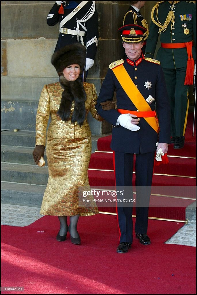 Royal Wedding of the Prince Willem-Alexander with Maxima Zorreguieta In Amsterdam, Netherlands On February 02, 2002-Henri of Luxembourg and wife Maria-Teresa.