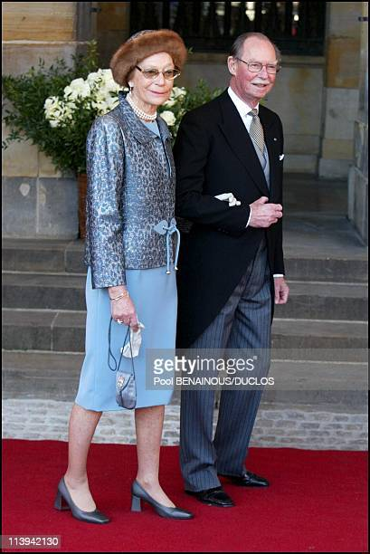 Royal Wedding of the Prince WillemAlexander with Maxima Zorreguieta In Amsterdam Netherlands On February 02 2002Grand Duke Jean of Luxembourg and...