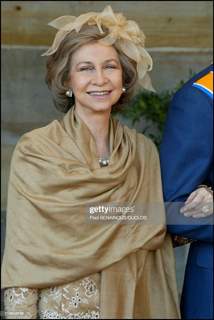 Royal Wedding of the Prince Willem-Alexander with Maxima Zorreguieta In Amsterdam, Netherlands On February 02, 2002-Queen Sofia of Spain.