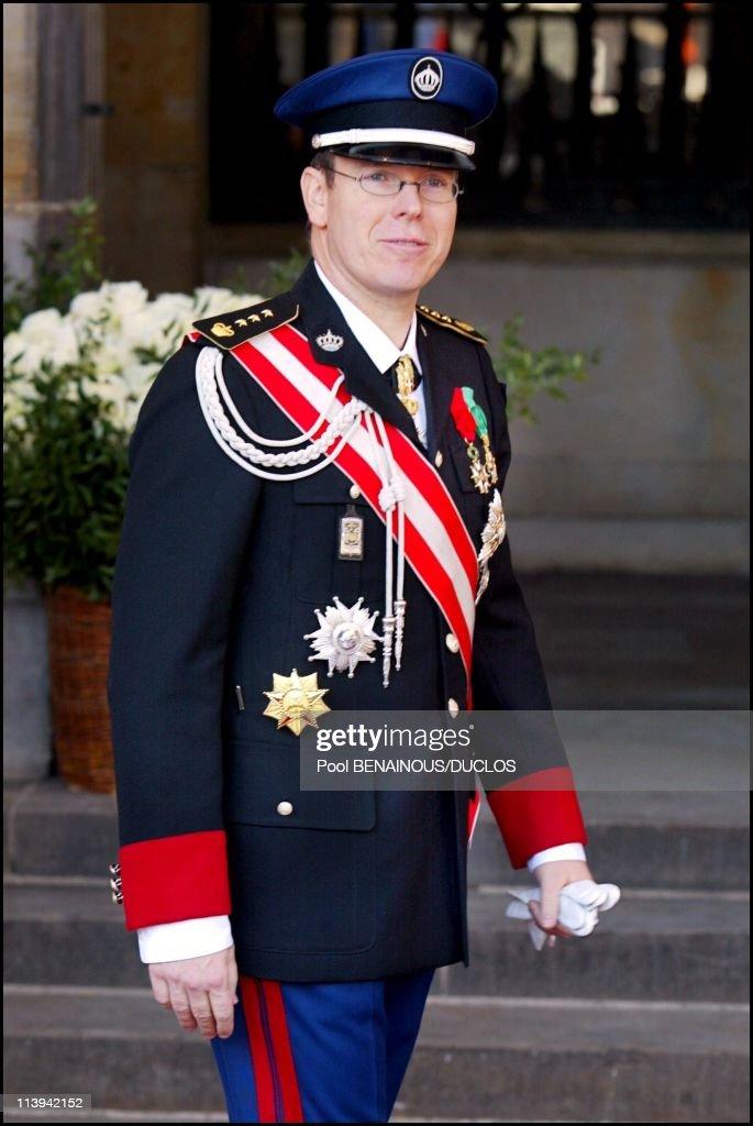 Royal Wedding of the Prince Willem-Alexander with Maxima Zorreguieta In Amsterdam, Netherlands On February 02, 2002-Prince Albert of Monaco.