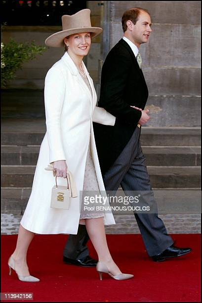 Royal Wedding of the Prince WillemAlexander with Maxima Zorreguieta In Amsterdam Netherlands On February 02 2002Prince Edward and wife Sophie