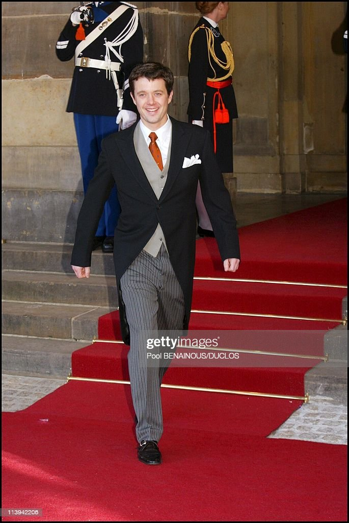 Royal Wedding of the Prince Willem-Alexander with Maxima Zorreguieta In Amsterdam, Netherlands On February 02, 2002-Prince Frederick of Denmark.
