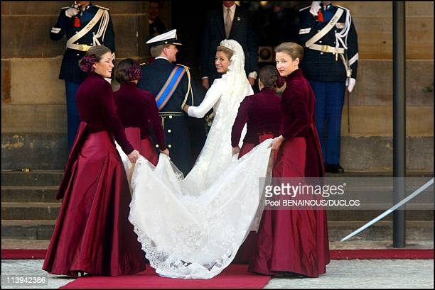 Royal Wedding of the Prince WillemAlexander with Maxima Zorreguieta In Amsterdam Netherlands On February 02 2002