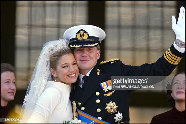 Royal Wedding of the Prince Willem-Alexander with Maxima Zorreguieta In Amsterdam, Netherlands On February 02, 2002.